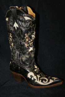 Corral Boots for Women are available at Scramblers, 137 West beauregard Avenue in San Angelo, Texas